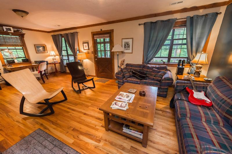 Living Room - ECO-Retreat@3000'swim/fish/sun/love - Asheville - rentals