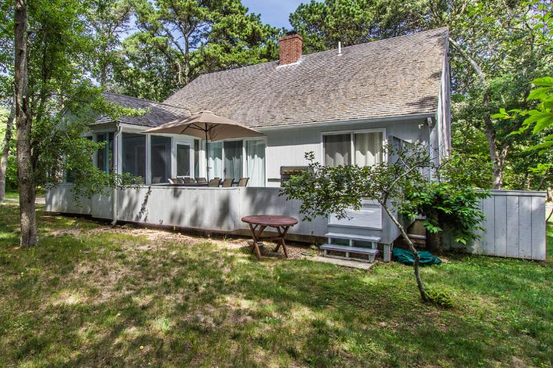 Back of House, Deck and Screened Porch - WILCM - Hidden Cove, Association Tennis Courts, Association Kayak Landing - Oak Bluffs - rentals