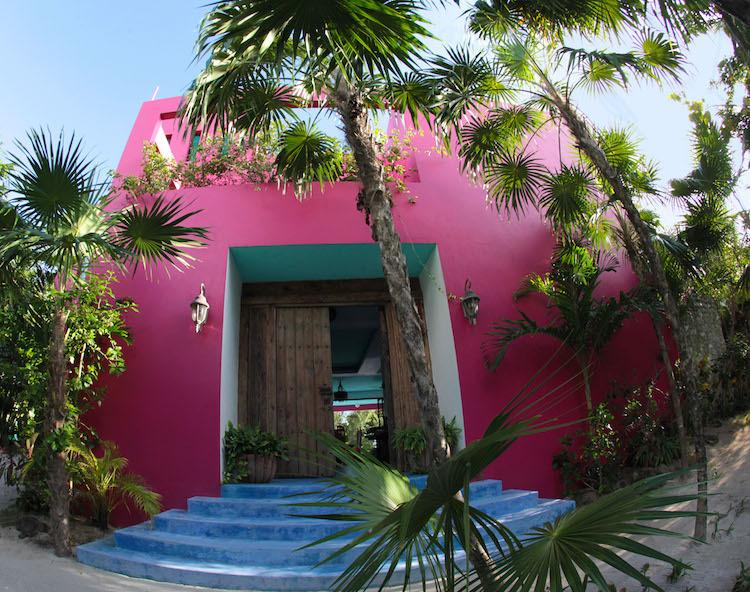 Partial view of the front of the house - The Pink House: 3BR Fantasy World on Soliman Bay - Soliman Bay - rentals