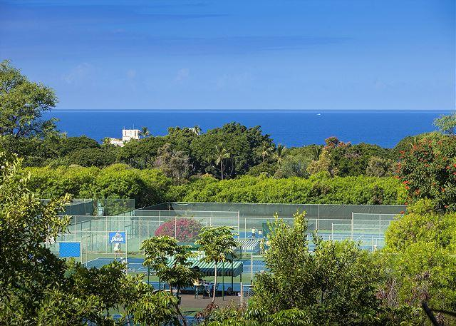 The ocean view from the lanai of unit #51 - Grand Champions #51 is a 2Bd 2Ba is a large condo that sleeps 6. Great Rates! - Wailea - rentals