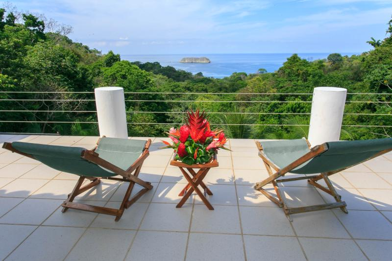 Master Suite Private Deck w/ view of Pacific Ocean - Villla CalaLuna - Ocean Front Luxury - Manuel Antonio National Park - rentals