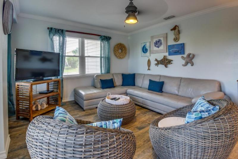 Stunning oceanview house, dog-friendly & across the street from the beach! - Image 1 - South Padre Island - rentals