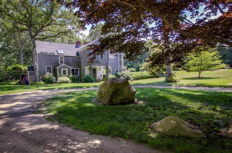 Stately home with shared swimming pool, waterfall, hot tub, and treehouse! - Image 1 - West Tisbury - rentals