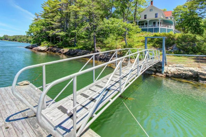 Historic, waterfront manse with gorgeous views & private dock! - Image 1 - West Bath - rentals