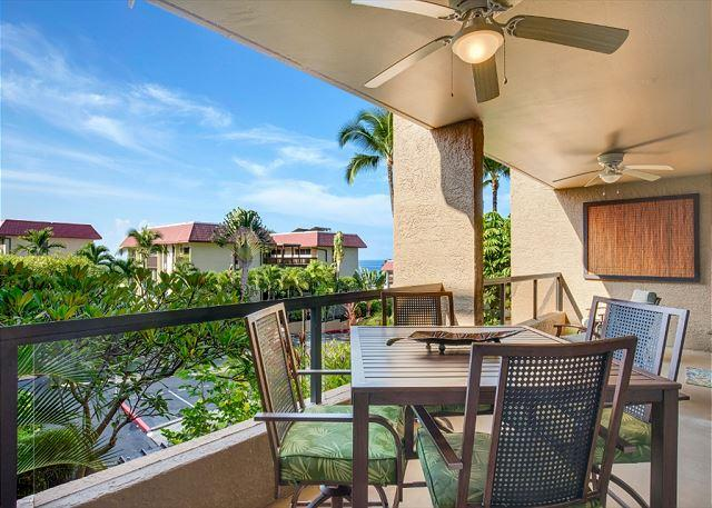 Outdoor Dining with Ocean Views - AC Included, Beautifully Updated with Ocean Views! Kona Pacific D524 - Kailua-Kona - rentals