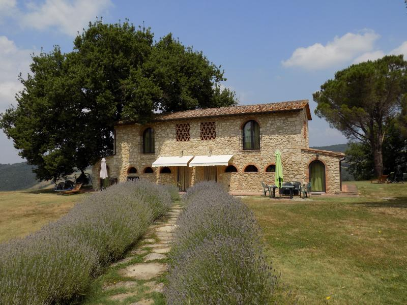 Front view holiday houses - Podere Grignano Vacation Rental in Beautiful Tuscany - Volterra - rentals