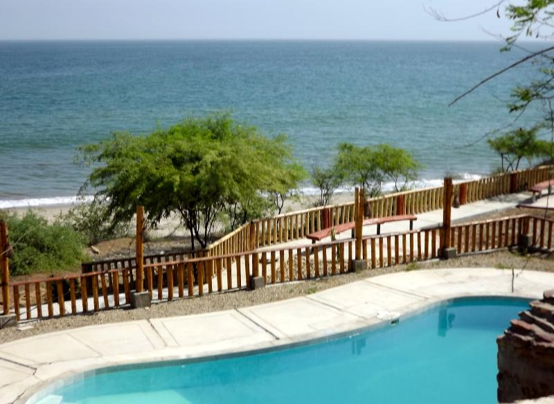 Beach front swimming pool - Scenic PUNTA COCOS BEACH front furnished suite, AC - Zorritos - rentals