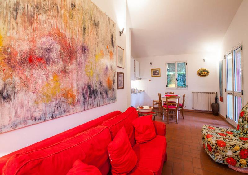 Living room - Small villa immersed in the quite of a private magnificent Italian park - Greve in Chianti - rentals