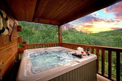 Hot Tub with Gorgeous Views of the Mountains - MOUNTAIN MEMORIES:3/3 Spectacular Mountain Views!! - Sevierville - rentals
