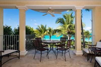Our beautiful private balcony - 2nd Floor Ocean Front 2 Bedroom, 2 Bath Villa #203 - Grace Bay - rentals