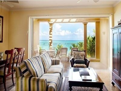 Lounge and dining areas overlooking Grace Bay  - 3rd Floor 2 Bedroom, 2 Bath Ocean Front Villa #307 - Grace Bay - rentals