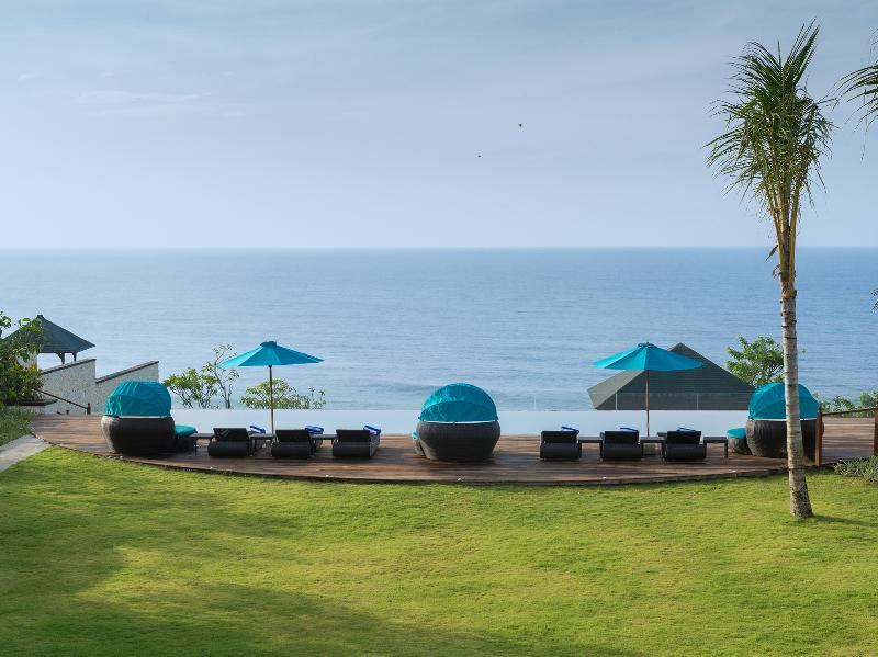 Pandawa Cliff Estate - Villa Rose - Infinity pool viewed from the balcony - Villa Rose - an elite haven - Ungasan - rentals