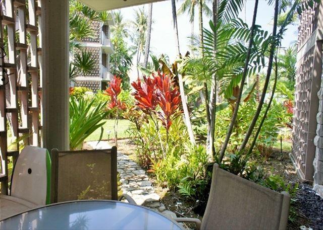 Tropical Lanai - Alii Villas 107 - No Stairs! Great Deal! Tropical Views! - Kailua-Kona - rentals
