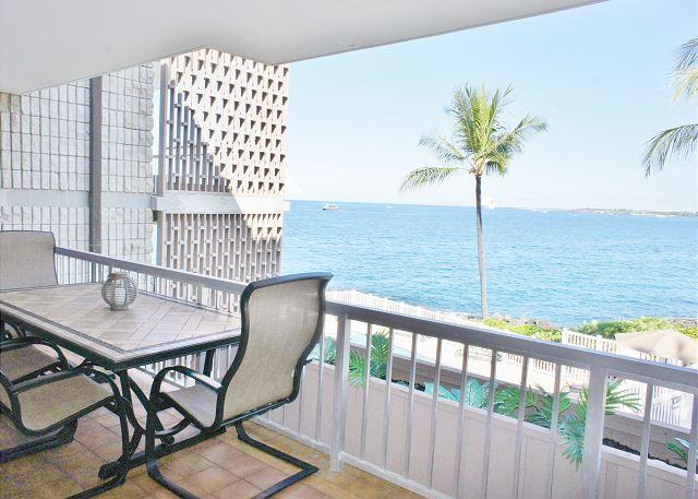 Lanai with Fantastic Ocean Views - Alii Villas 228- Great Ocean View from this lovely island home! - Kailua-Kona - rentals
