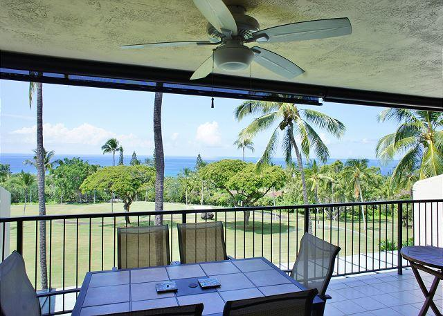 Great Ocean Views from the Spacious Lanai - Ocean and Golf Course Views on the 18th fairway #322 - Kailua-Kona - rentals