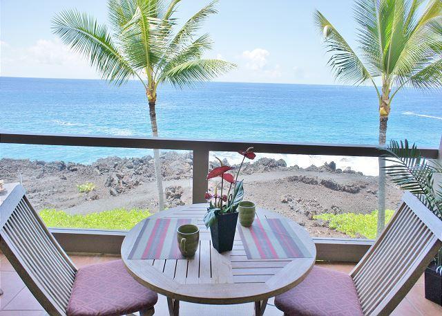 Ocean Front Lanai - Ocean Front, 3 bath, 2 bed with loft ,surf & Racquet1305 sleeps 6-SR 1305 - Kailua-Kona - rentals