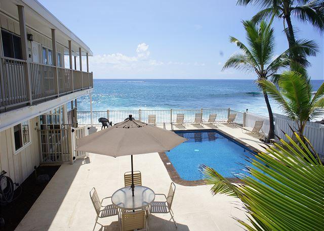 Ocean Front Pool - Premier Ocean Front Complex, Kona Riviera Villas 106 - Kailua-Kona - rentals