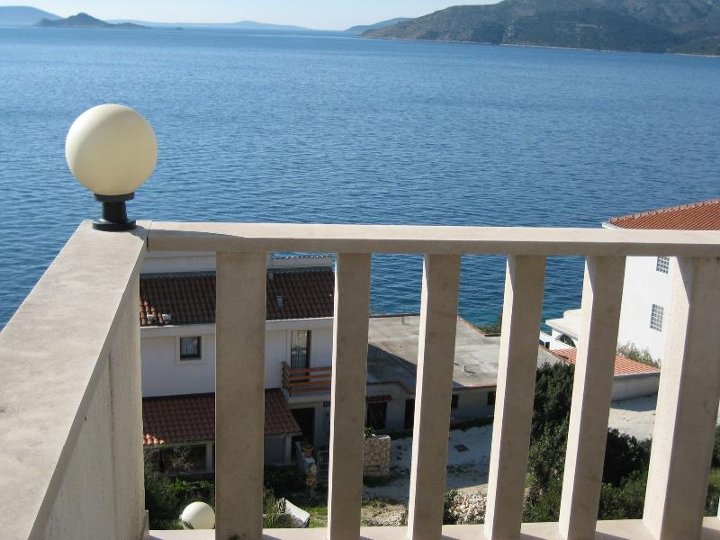 A4(2+3): terrace view - 001OKRGD  A4(2+3) - Okrug Donji - Okrug Donji - rentals
