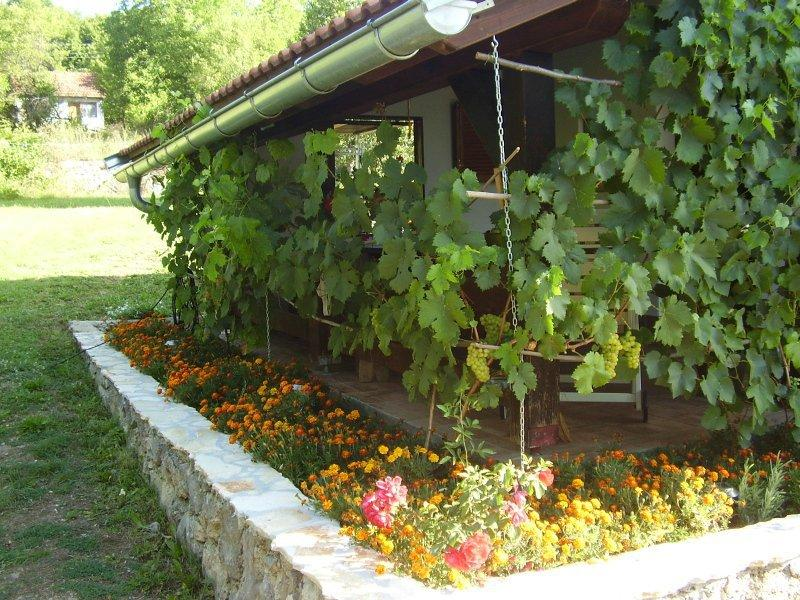 H(4+2): covered terrace - 35243 H(4+2) - Gacka dolina - Zaluznica - rentals