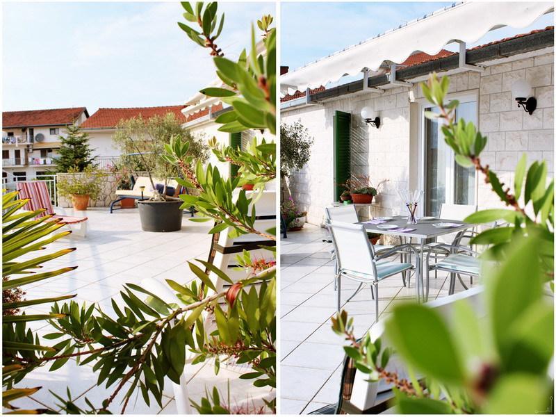 A1(4+1): terrace - 4126 A1(4+1) - Okrug Gornji - Okrug Gornji - rentals