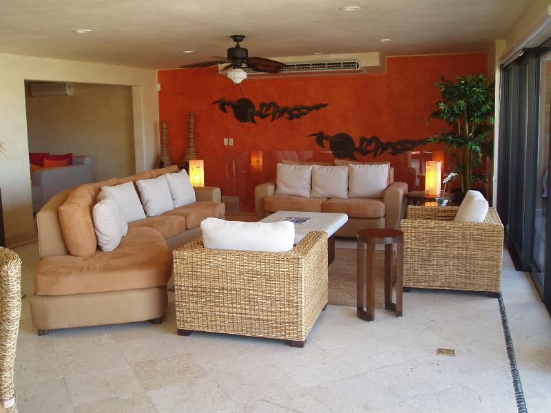 Living Room with Views of the Ocean and Marina - Casa Miguel - Cabo San Lucas - rentals