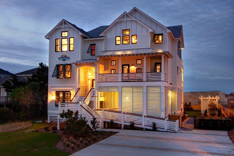 Featured in Southern Living Magazine, SoCo's stunning exterior. - SoCo - 8 BR Oceanfront - Heated Pool, Elevator - Nags Head - rentals