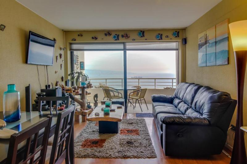 Gorgeous oceanfront condo with a shared pool - blocks from the beach! - Image 1 - Vina del Mar - rentals