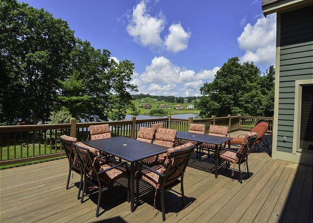 Deck - An Unforgettable Home; 2 Hot Tubs, Private Indoor Pool, Dock Slip & MORE!! - Swanton - rentals