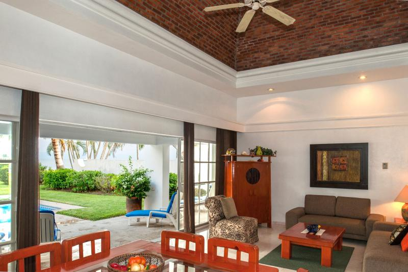 Great room area - Beachfront Private Villa Private Pool and Yard - Puerto Vallarta - rentals