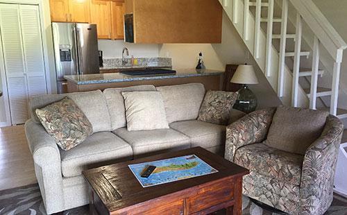 Living area from lanai - Molokai_Shores 314 - Kaunakakai - rentals