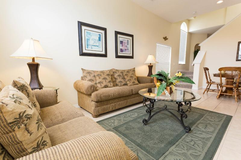Living Room - 5 Bdrm Home with Pool & Gameroom- Close to Disney - Clermont - rentals