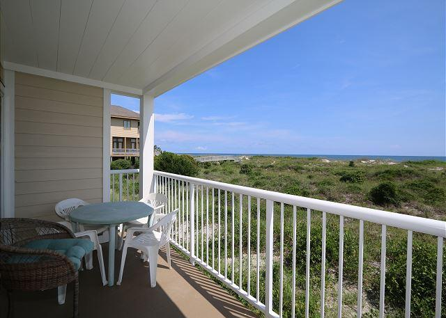 Wrightsville Dunes 1D-H Oceanfront condo with community pool, tennis, beach - Image 1 - Wrightsville Beach - rentals
