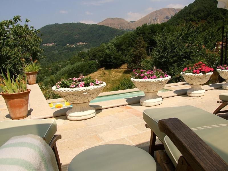 View from Plunge Pool Terrace - Villa in Guzzano, Bagni di Lucca, Tuscany, Italy - Bagni Di Lucca - rentals