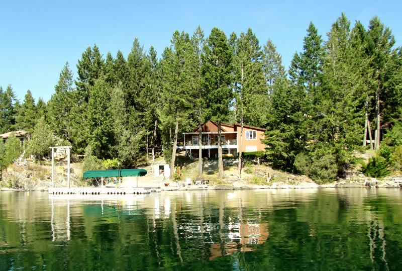View from the lake - Grandma's Cabin in the Woods on the lake! - Rollins - rentals