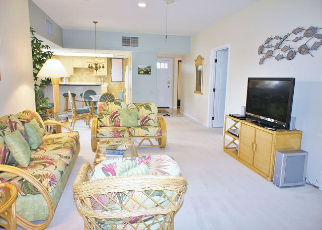 Living Area - Your home away from home has 2 en-suite bedrooms at Waikoloa Fairways C217 - Waikoloa - rentals