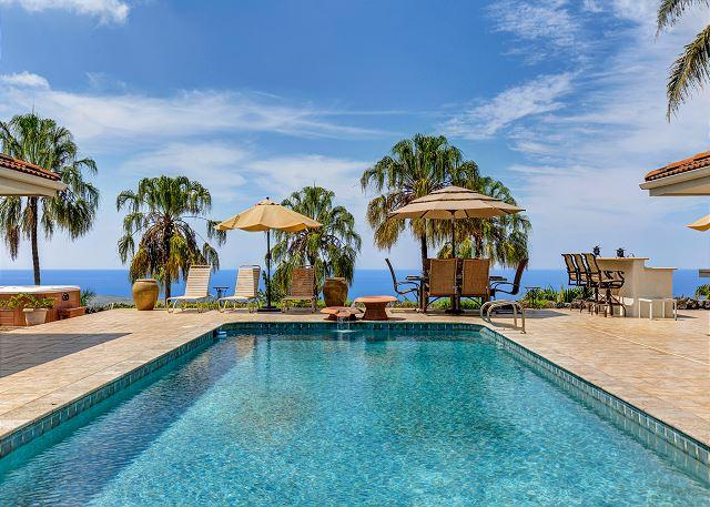 Large Private Pool with Spectacular Ocean Views! - Heavens, Spaciouis 4 Bedroom with Pool and Great Ocean Views-PHHeaven - Kailua-Kona - rentals