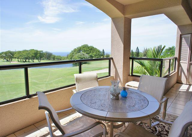 Lanai with Ocean Views - Lovely 2 Bedroom with Ocean View-WF A205 - Waikoloa - rentals