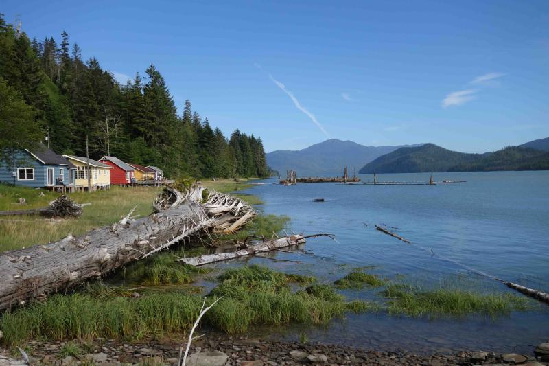 Cassiar Cannery - iconic Guest Houses looking towards the mouth of the Skeena River - Cassiar Cannery ~ where history and nature meet~ - Prince Rupert - rentals