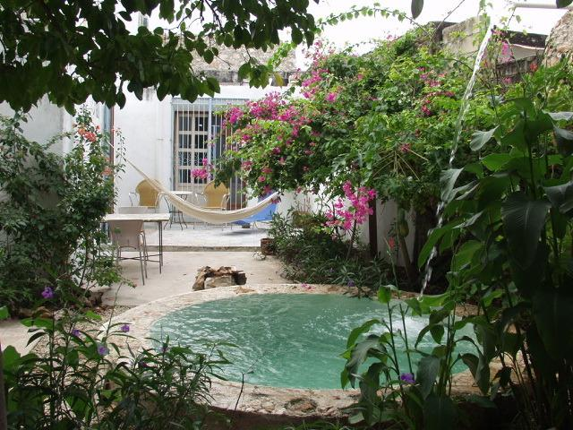 Garden and Pool - Charming house  with garden in center - Santiago - Merida - rentals