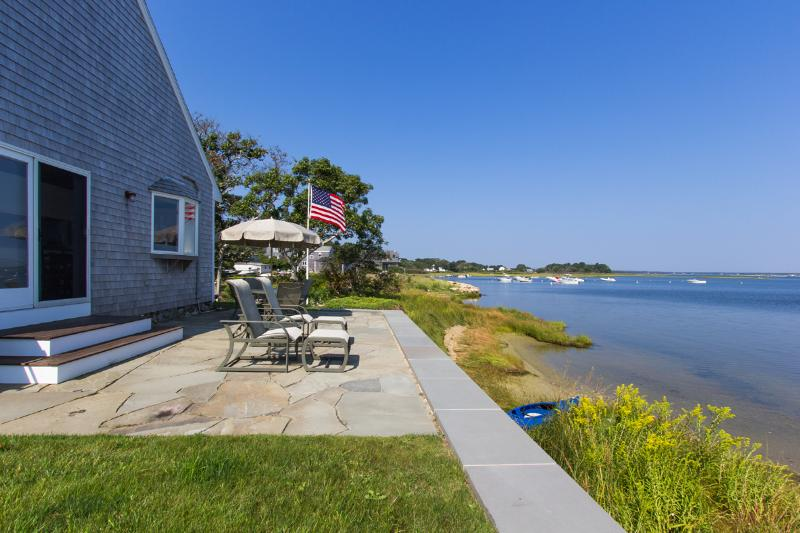 Waterfront Patio Main House - LEONB - Waterfront with Outstanding Views,  Main and Guest House Complex, Swim - Edgartown - rentals