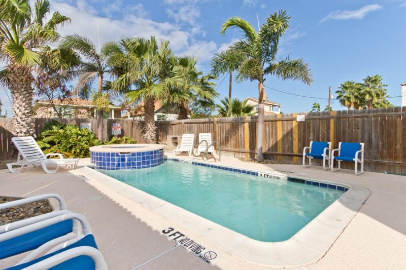 Your private courtyard and pool is a tropical oasis! - 110 E. Mesquite B - South Padre Island - rentals