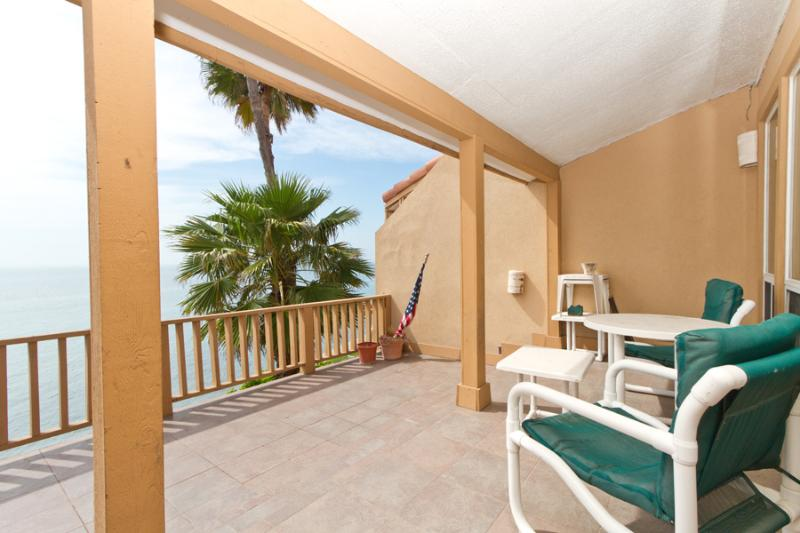 Balcony facing the bay - La Solana #114 - South Padre Island - rentals