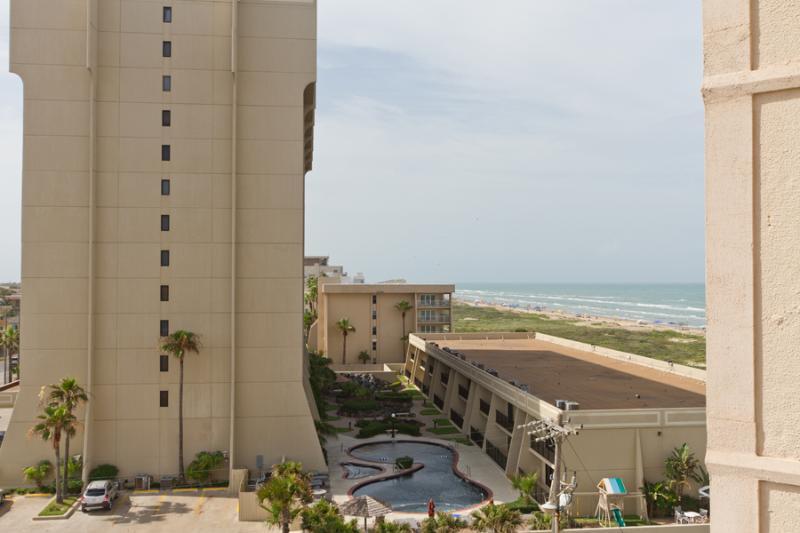Balcony view facing North east - Aquarius #501 - South Padre Island - rentals