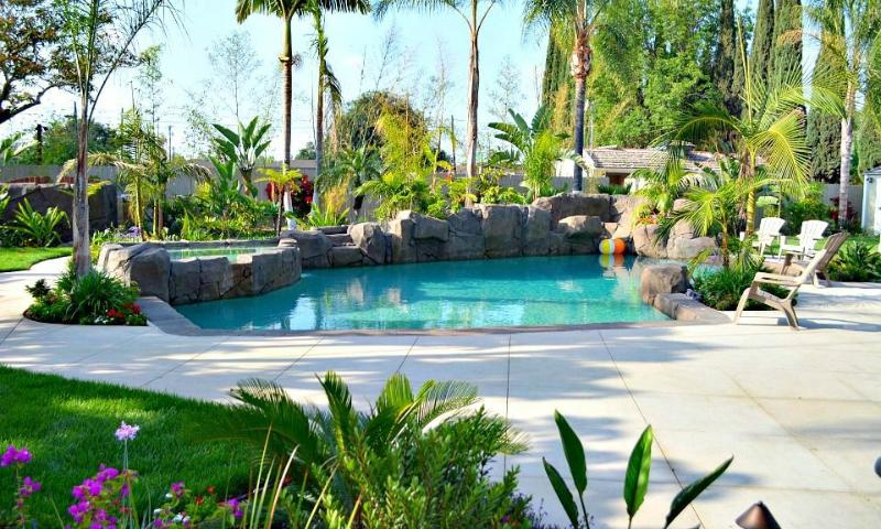 Resort Style Pebble-Tech Rock Pool w/Inground Jacuzzi - Destination #3 by Anaheim Vacation House - Fullerton - rentals