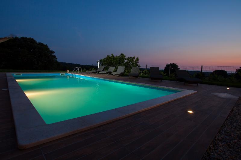 Villa Roza luxurious 3 bedroom villa with swimming pool and heated jacuzzi - Image 1 - Tinjan - rentals