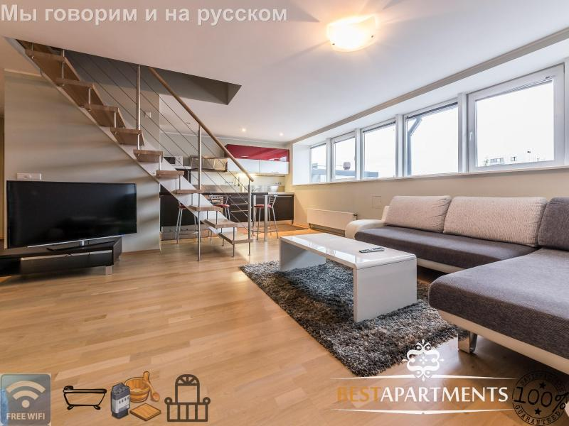 Luxury 2 bedroom penthouse with balcony & sauna - Image 1 - Tallinn - rentals