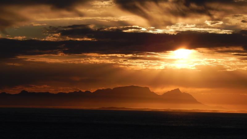 Gordon's Bay boasts some of the best sunsets in the world... This was taken from the front garden. - Gordon's Bay - Sea Views from every room! - Gordon's Bay - rentals