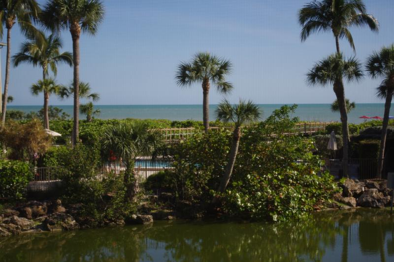 The warm Gulf waters are just steps from the condo! - Sanibel Blue Lagoon - Sanibel Island - rentals