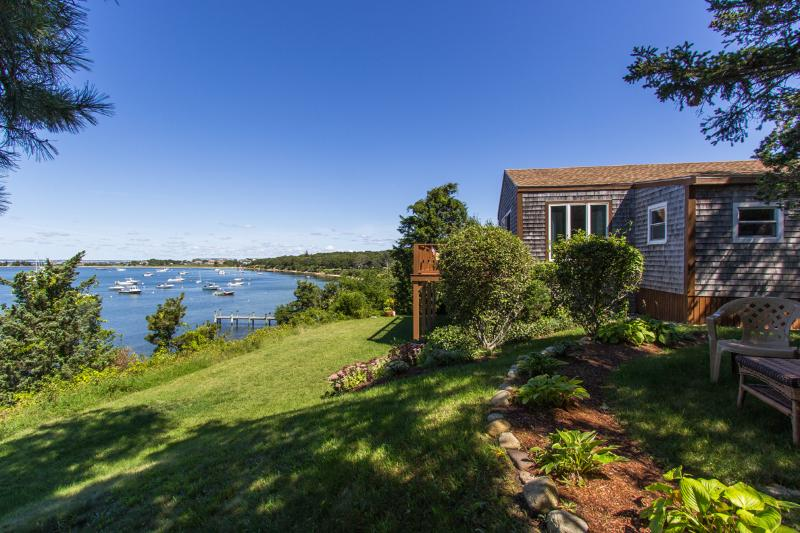 Waterfront Side of House and View - SMYTP - Waterfront - Lagoon, Dock, Privacy and Magnificent Views, Wifi, A/C - Oak Bluffs - rentals