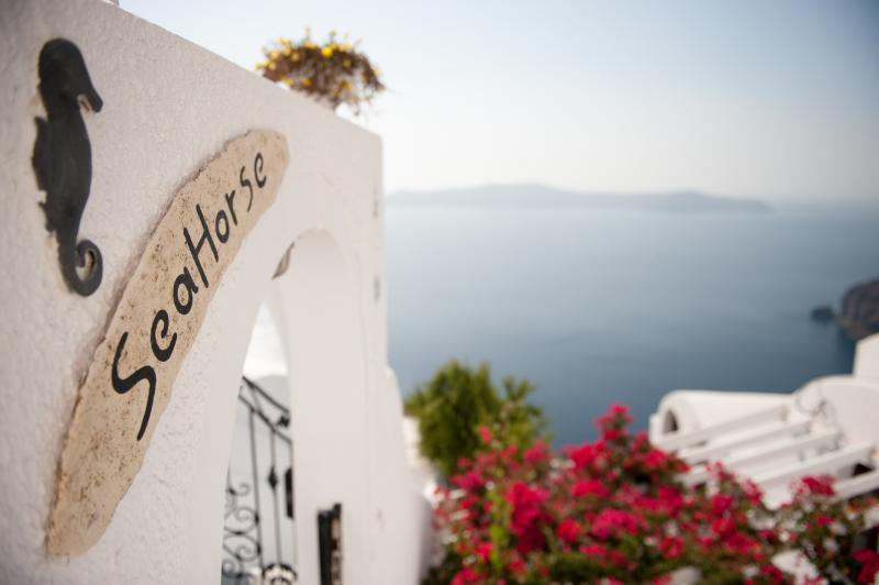 "A ""Magical"" villa overlooking the caldera cliff. - Image 1 - Firostefani - rentals"